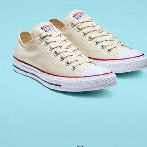 Converse off white low tops